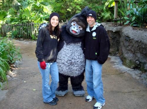 Sarah and Paul With Tarzan's Terk