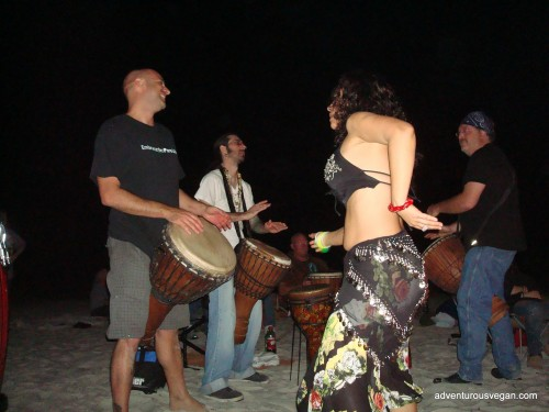 Drummers and Dancers at the Bonfire