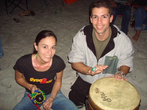 Paul and Sarah Drumming With the Beat